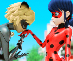ladybug, miraculous, and Chat Noir image