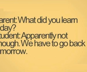 funny, school, and quote image