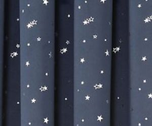 blue, curtains, and star image