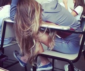 girl, hair, and school image