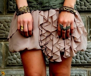 fashion, skirt, and ring image