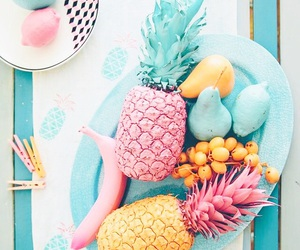 fruit, pineapple, and pink image