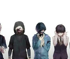 anime, tokyoghoul, and kaneki image