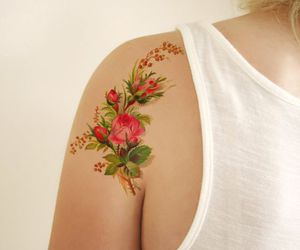 flowers, tatoo, and Tattoos image