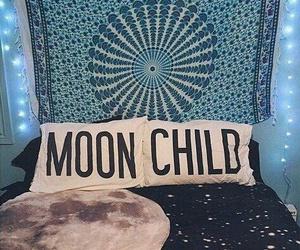 moon, bedroom, and room image