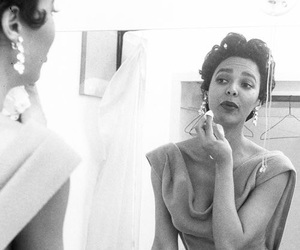 50's, b&w, and beauty image