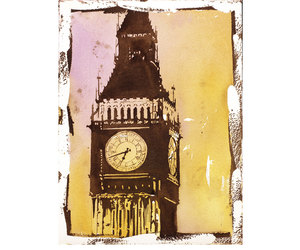 Big Ben, watercolour painting, and etsy image