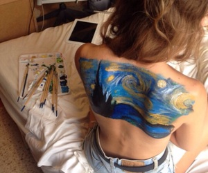 art, back, and body paint image