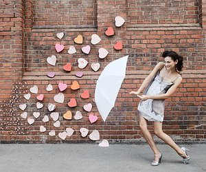 fashion, girl, and hearts image