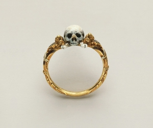 ring, skull, and gold image