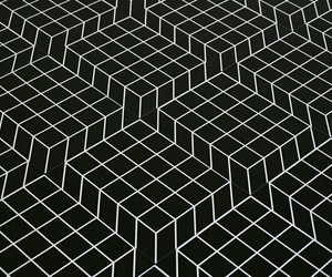 black and white, weird, and cuadrado image