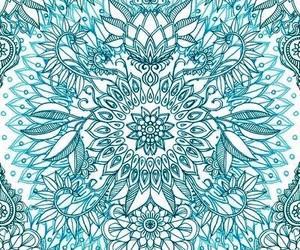 blue, wallpaper, and mandala image