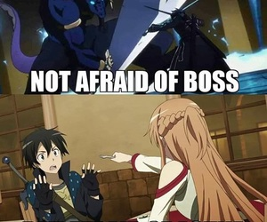 sword art online, SAO, and funny image