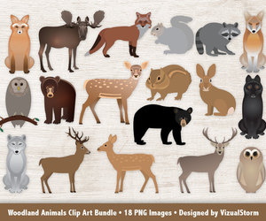 bear, deer, and etsy image