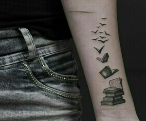 book, tattoo, and tatoo image