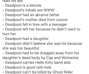 deadpool, sexy, and facts image