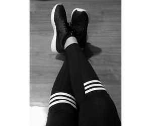 adidas, clothes, and black&white image