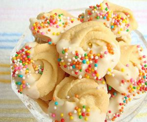food, Cookies, and sprinkles image
