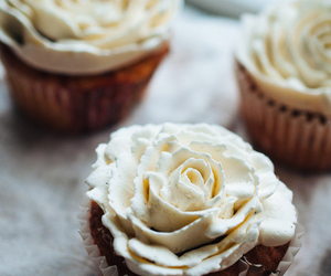 buttercream, cupcakes, and rhubarb image