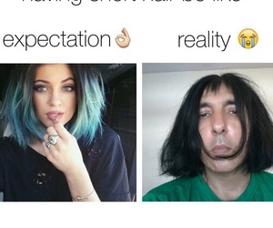 funny, hair, and reality image