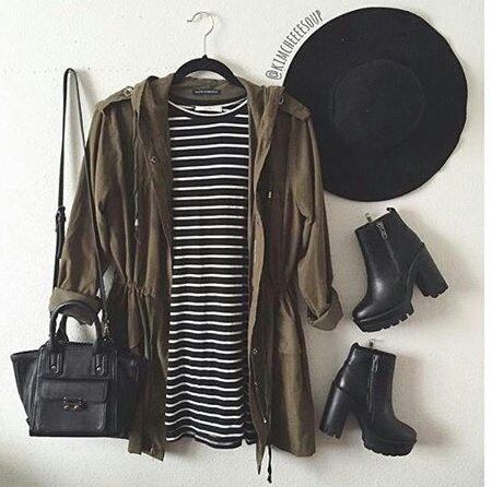 black, stripes, and boots image