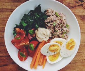 carrot, egg, and greens image