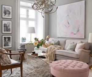 living room and pink image