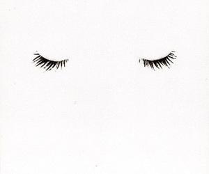 eyes, white, and eyelashes image