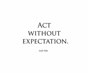 act, expectation, and without image