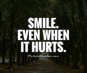 hurt, quote, and smile image