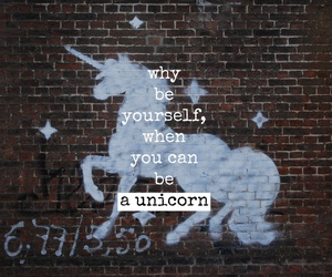 unicorn, quote, and word image