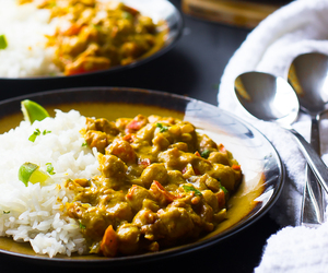 coconut, curry, and vegan image
