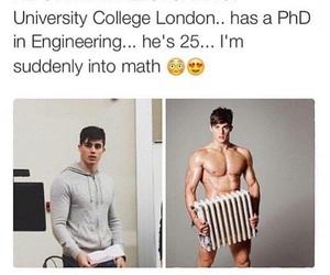 Hot, math, and boy image