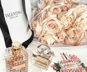 flowers, Valentino, and perfume image