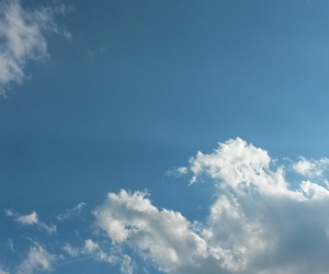 blue, white, and cloud image