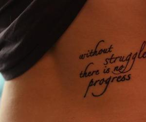 tattoo, quote, and struggle image