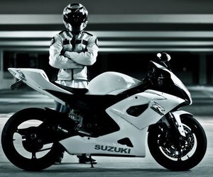 motorcycle, white, and sportbike image