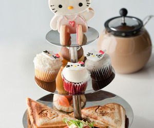 food, hello kitty, and cat image
