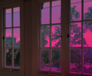 pink, window, and aesthetic image