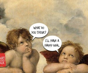 funny, painting, and if art could talk image