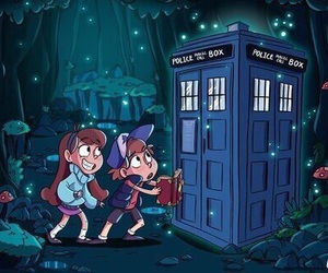 doctor who, gravity falls, and art image