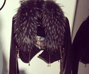 black, fashion, and fur image