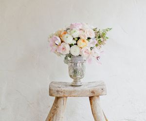 flowers, vintage, and pastel image