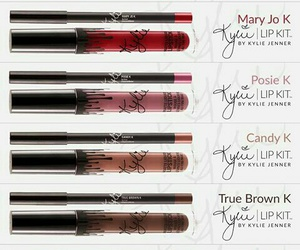 lipstick, kylie jenner, and true brown k image
