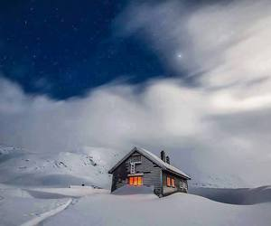 cabins, landscape, and Houses image