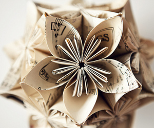flowers, music, and Paper image