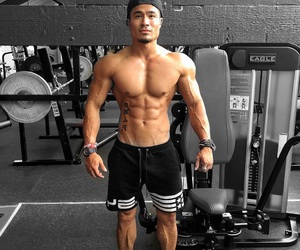 fitness, asian men, and auckland image