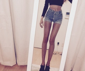 skinny, thin, and legs image