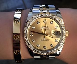 rolex, watch, and cartier image