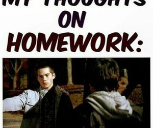 teen wolf, funny, and homework image